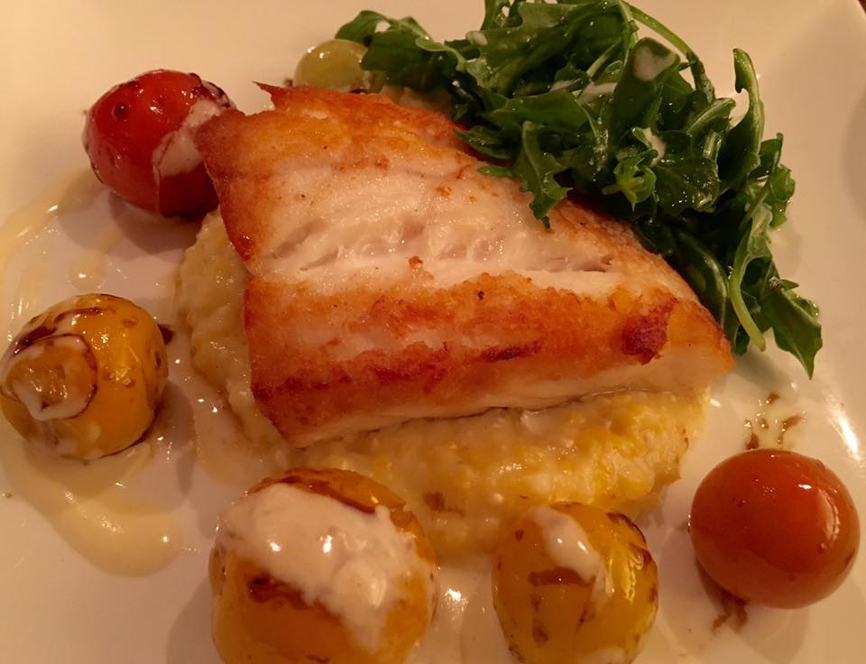 Fresh Local Grouper over Brie Cheese Grits