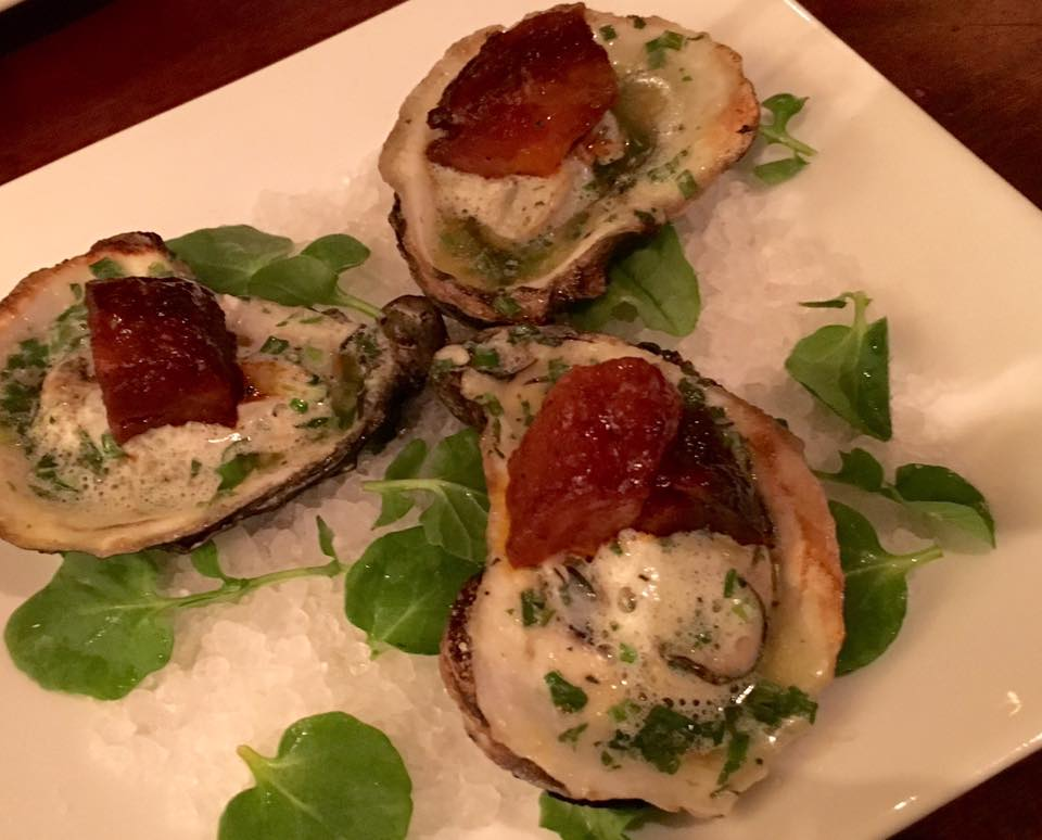 Oysters with Pork Belly