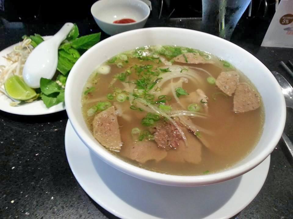 Beef Pho at La V - Vietnamese Fusion