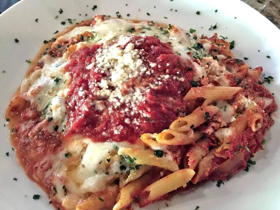 Goat Cheese Baked Ziti at Gratzzi Grille