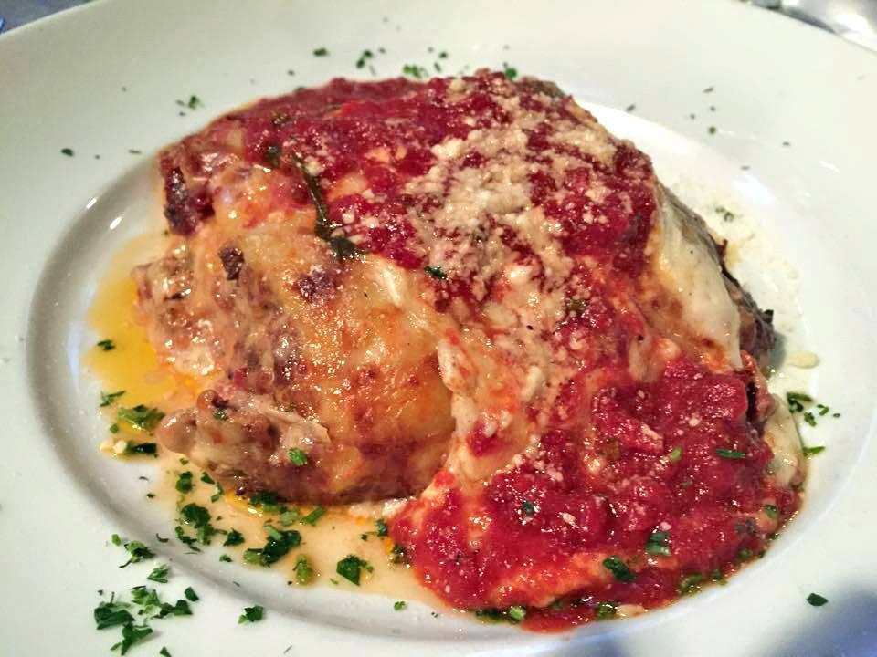 Lasagna Bolognese at Gratzzi Grille