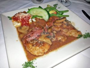 Veal Marsala at Gratzzi Italian Grille