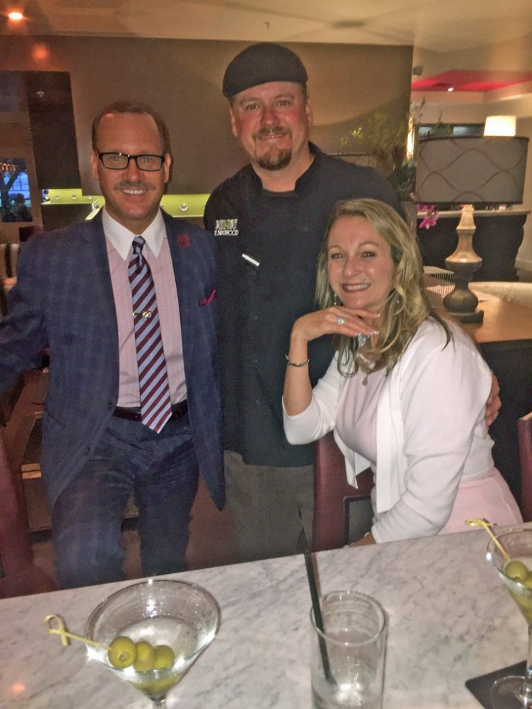 Owners of St. Petersburg Foodies, Kevin Godbee & Lori Brown with Chef Jason Cline at The Birch & Vine.