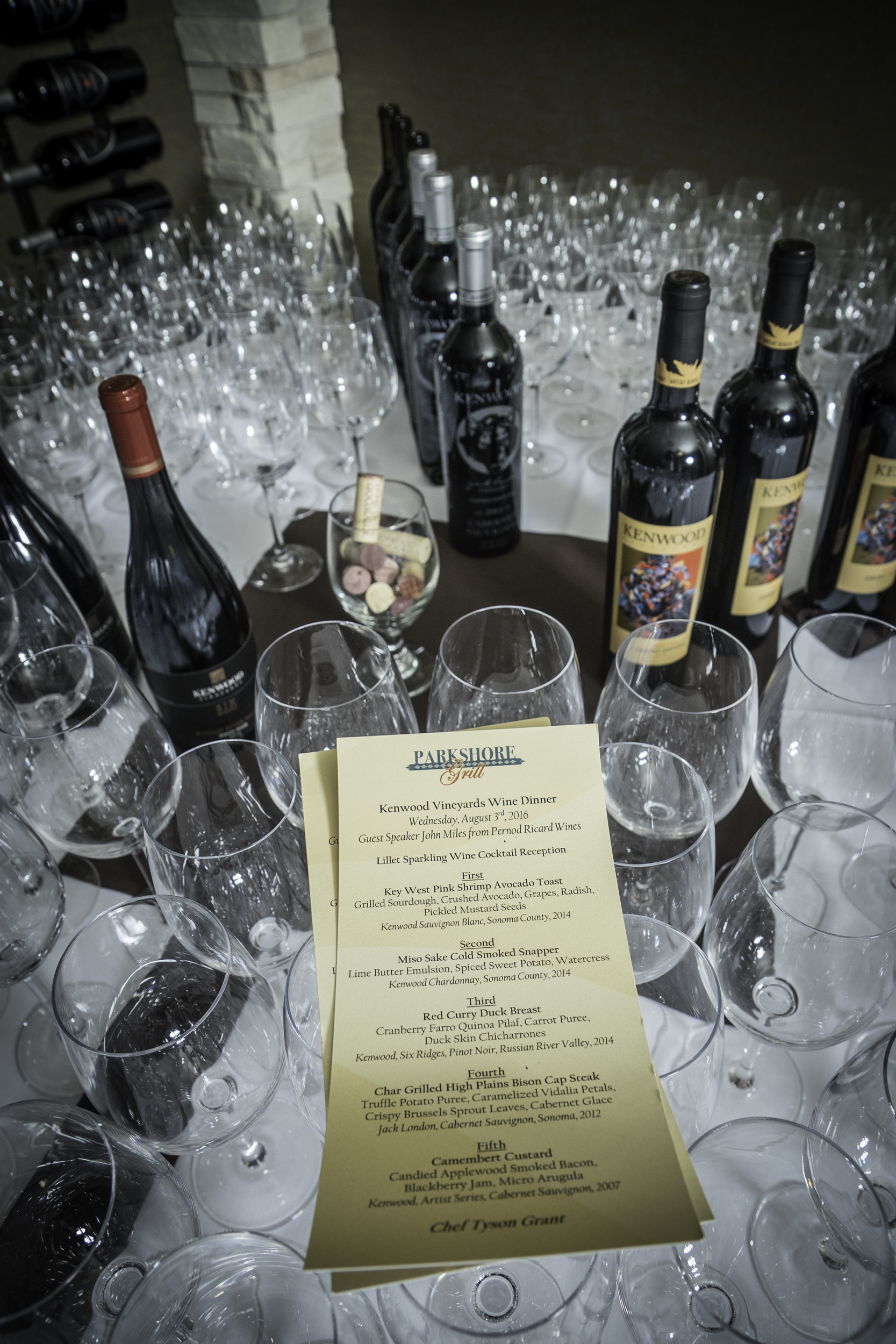 Parkshore Grille Kenwood Vineyards Wine Dinner