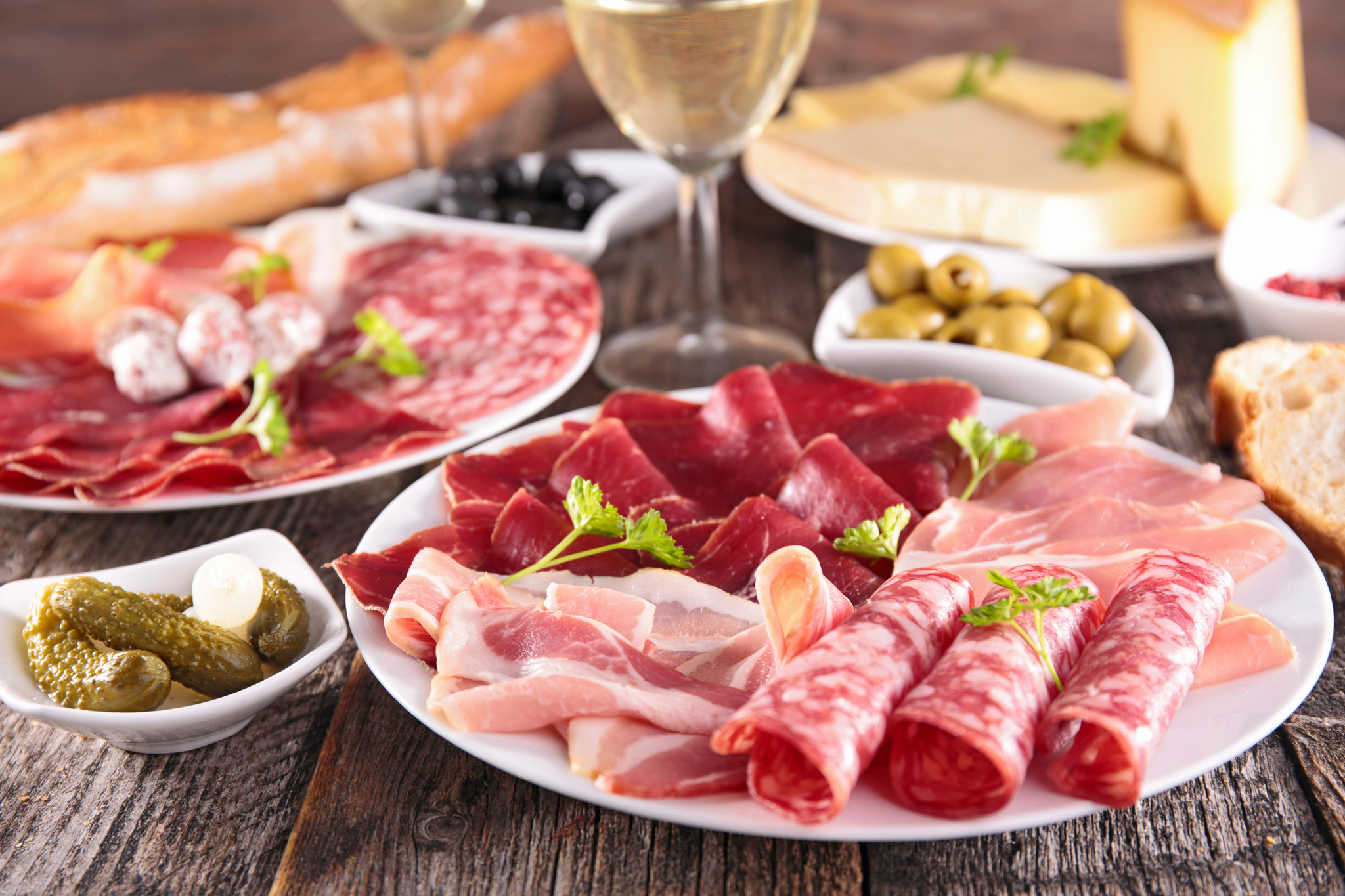 Charcuterie Meats & Cheese Board