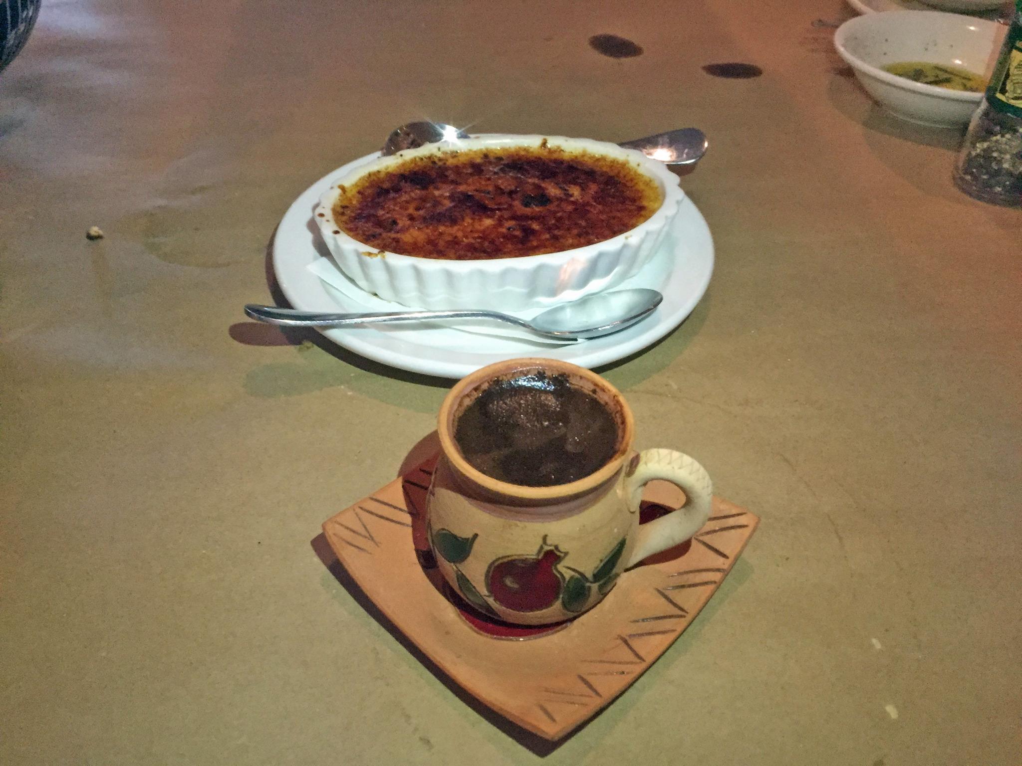 Créme Brûlée & Armenian Espresso
