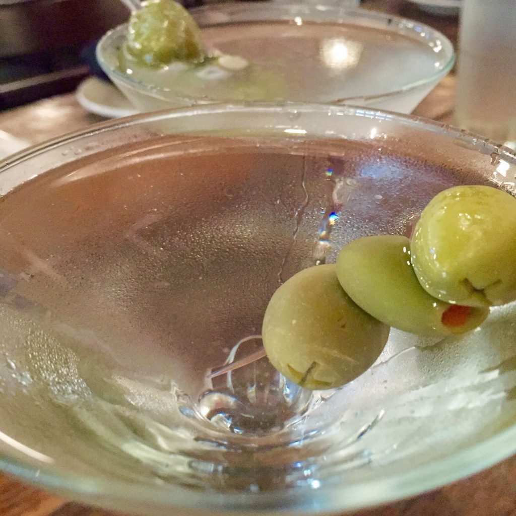 Martini at Oyster Bar St. Pete