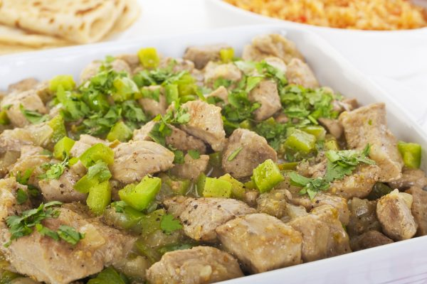 Braised Pork with Green Chili Sauce
