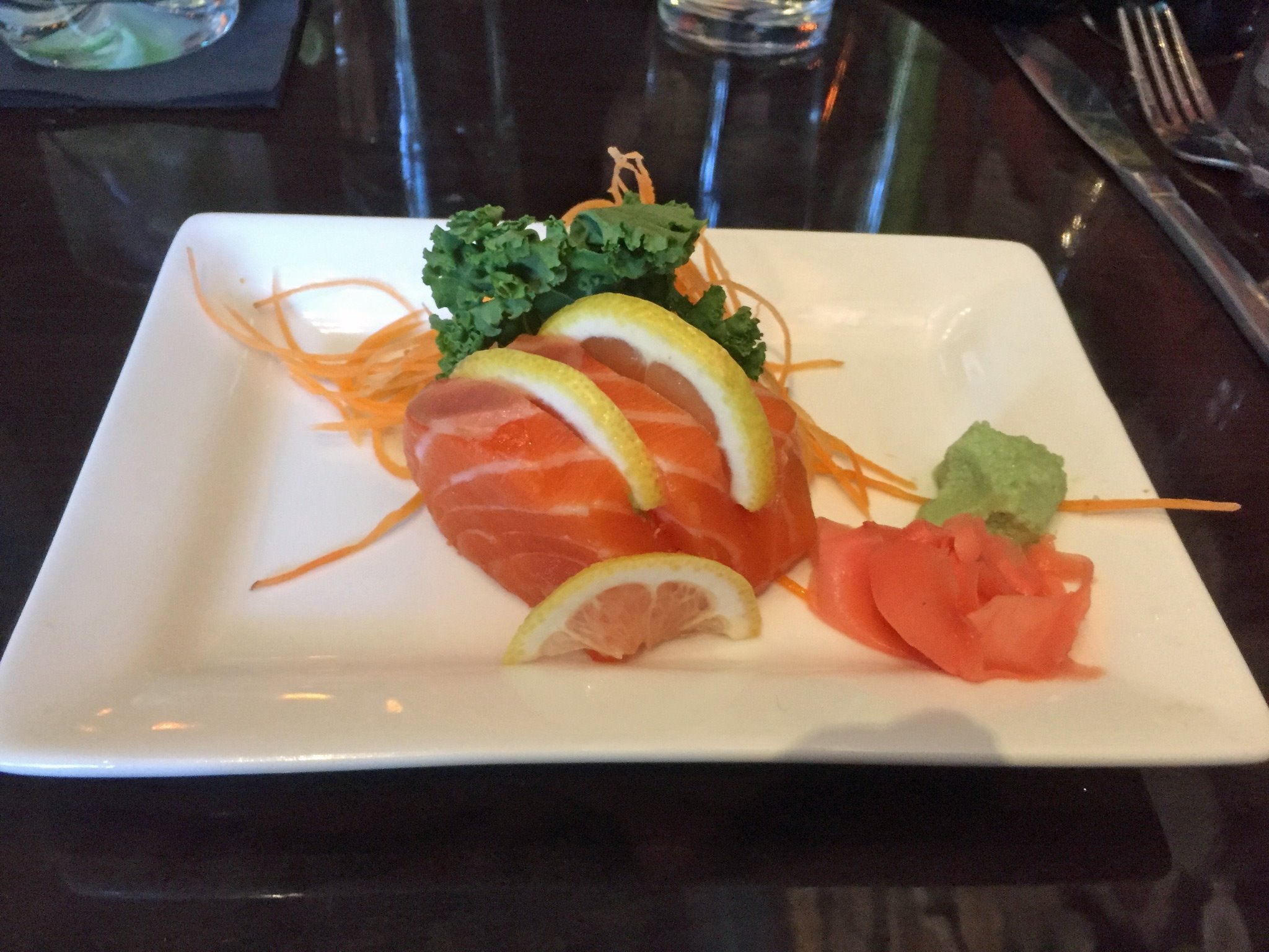 Salmon Sashimi at The Lure
