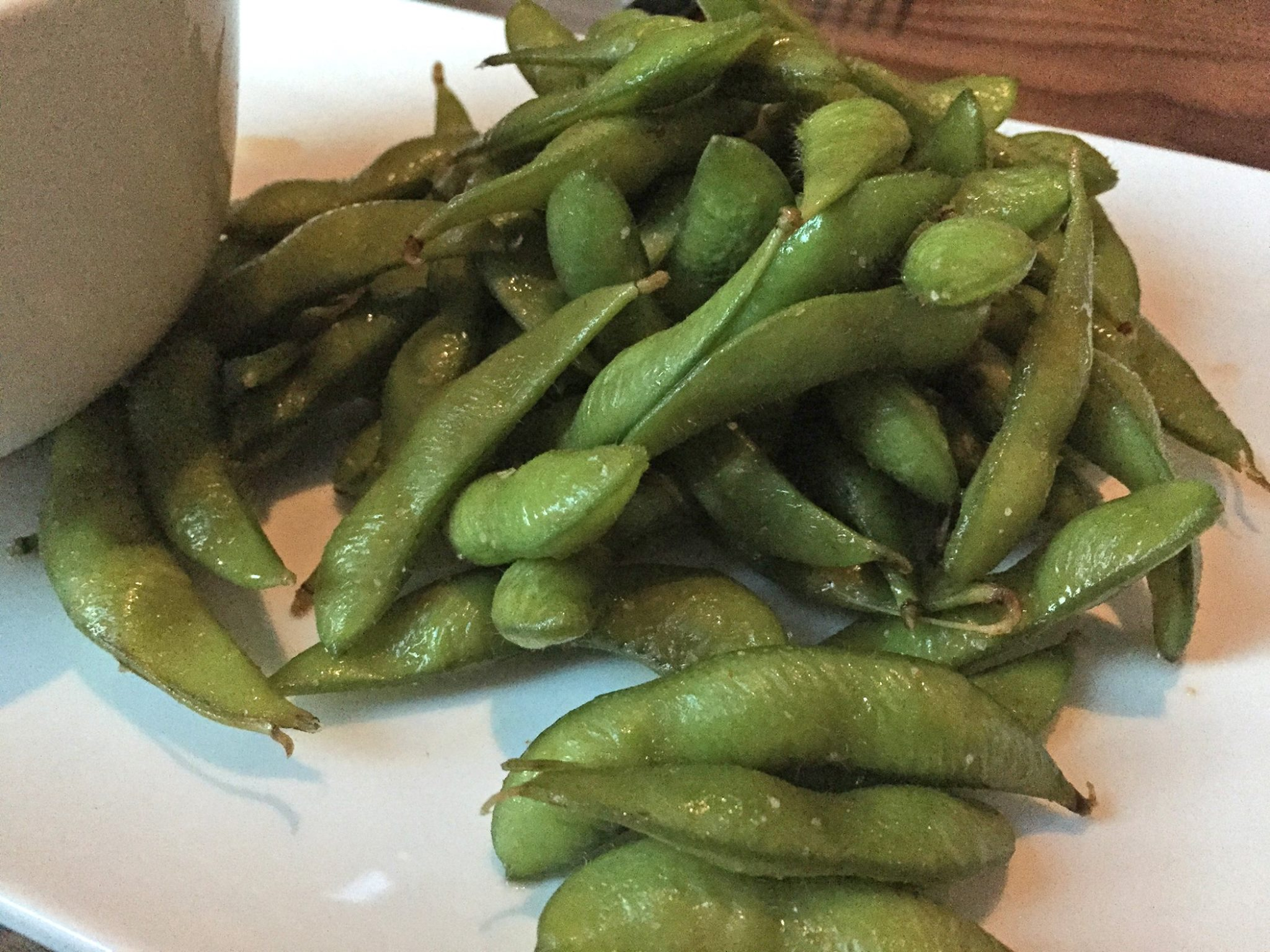 Spicy Edamame infused with Sriracha sea salt