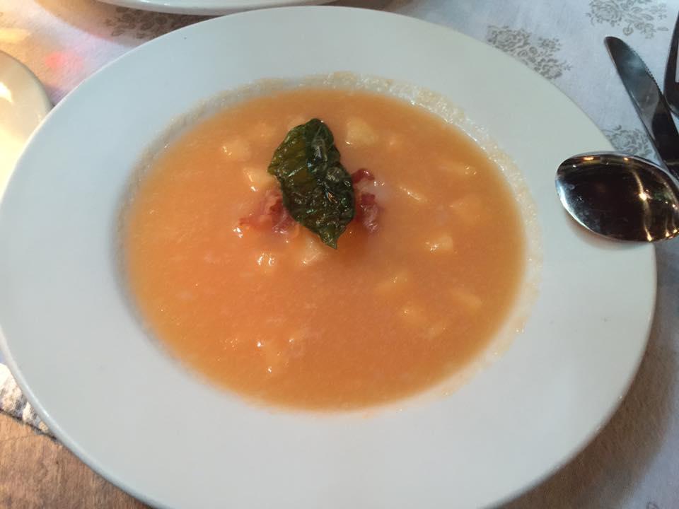 Cantaloupe Gazpacho at Pia's Trattoria