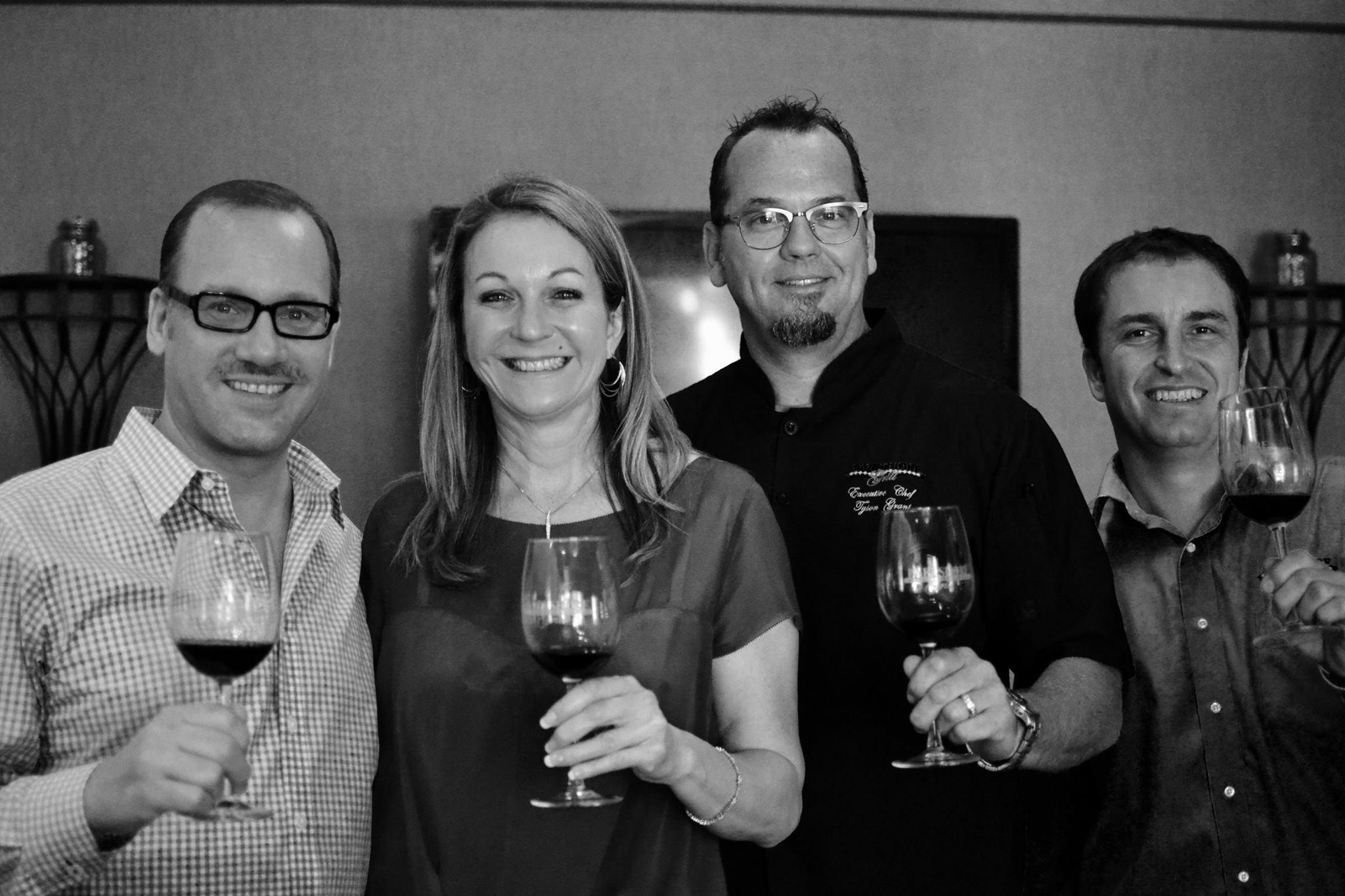 L-R: Kevin Godbee, Lori Brown, Chef Tyson Grant, Albi