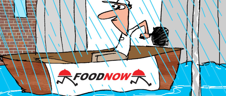 Food Now Delivers Rain or Shine, But This is Ridiculous!