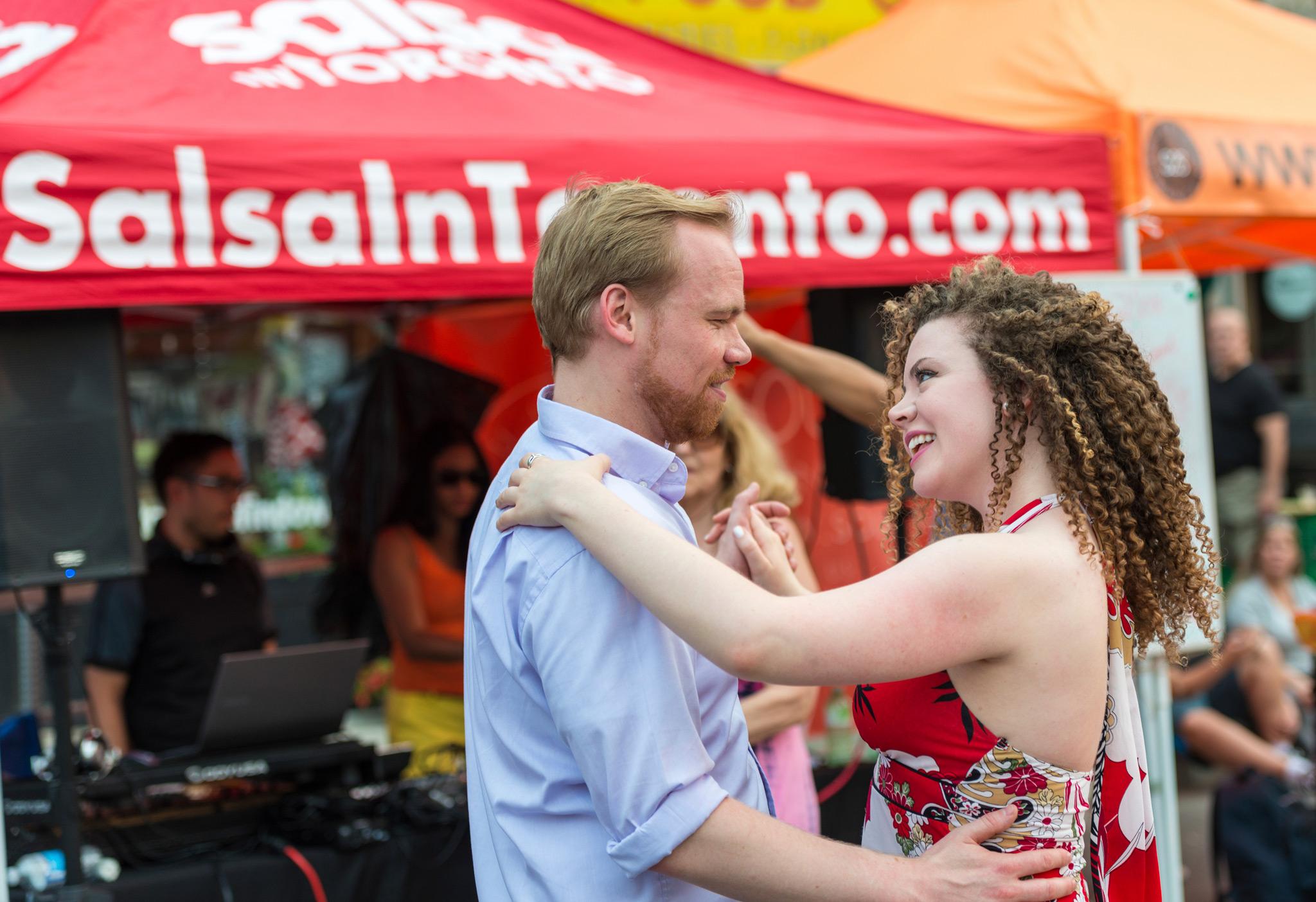 Sidewalk Salsa Dancing