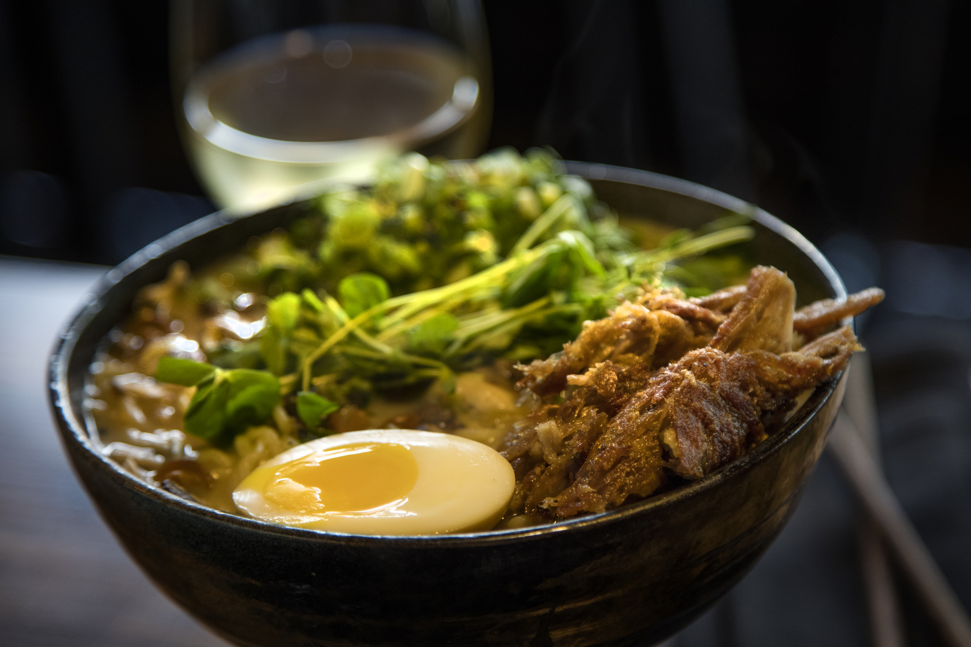 Crispy Duck Ramen at Buya