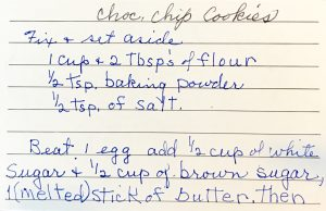 Grandma's Handwritten Recipe Card