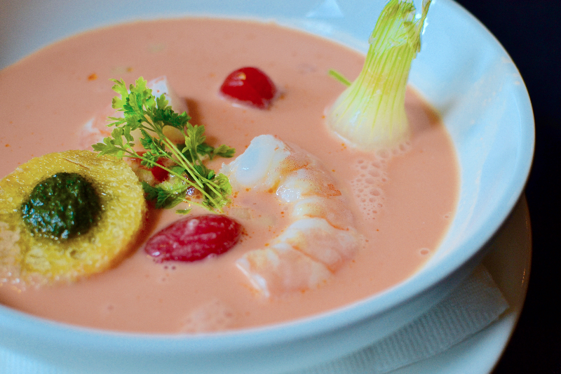 Seafood Gazpacho at Café Gala