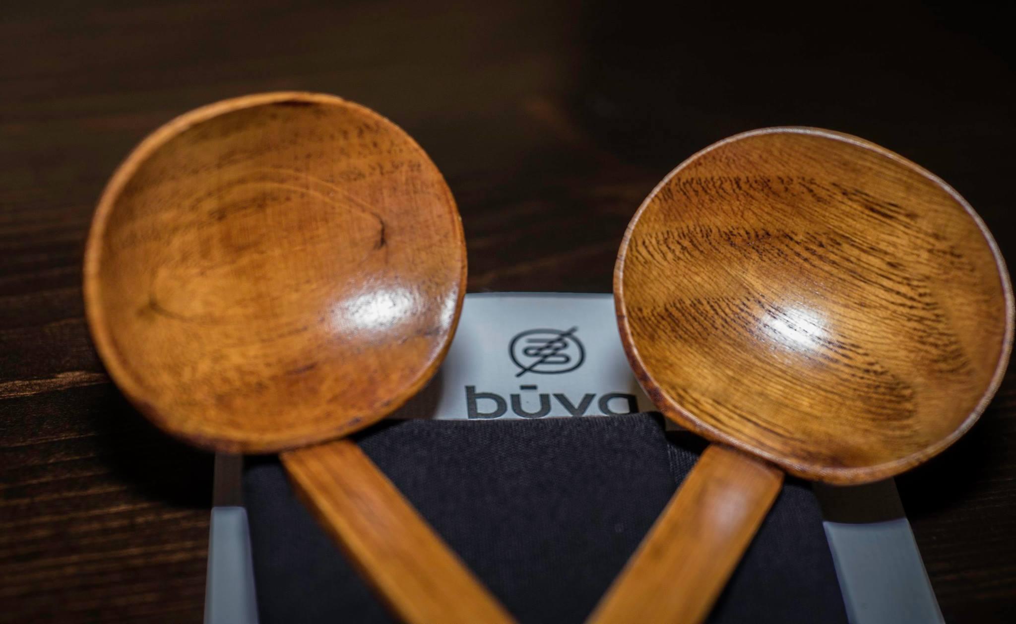 Traditional Wooden Ramen Spoons