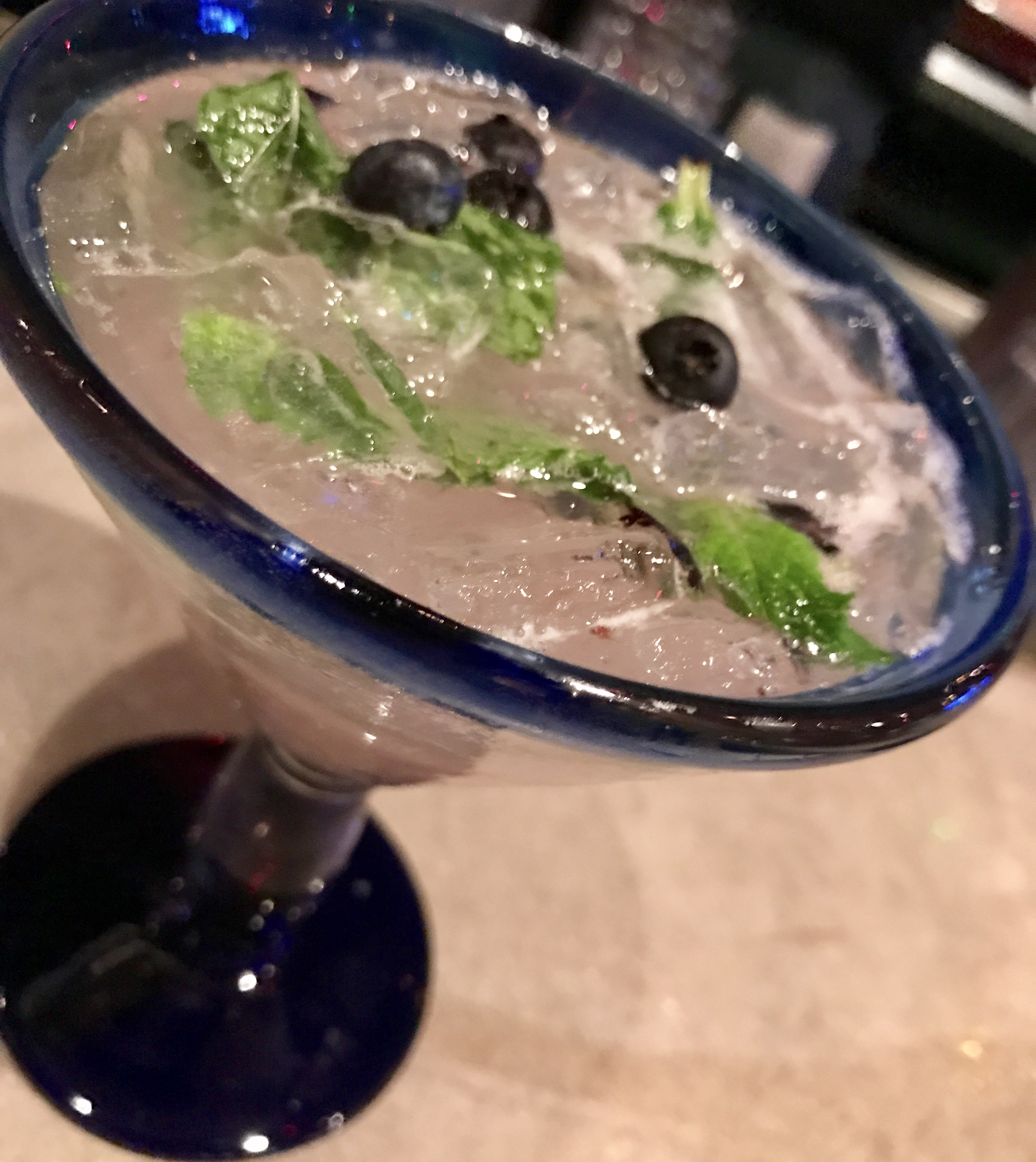 Blueberry Margarita at Nueva Cantina