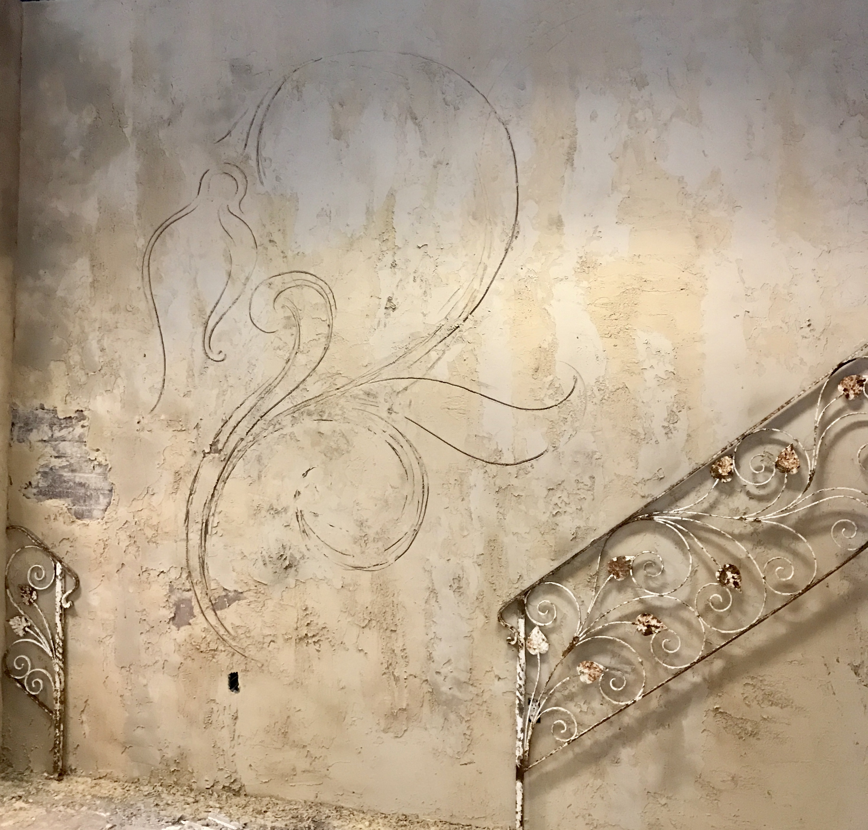Fleur De Lis Sketch at The Mill Annex
