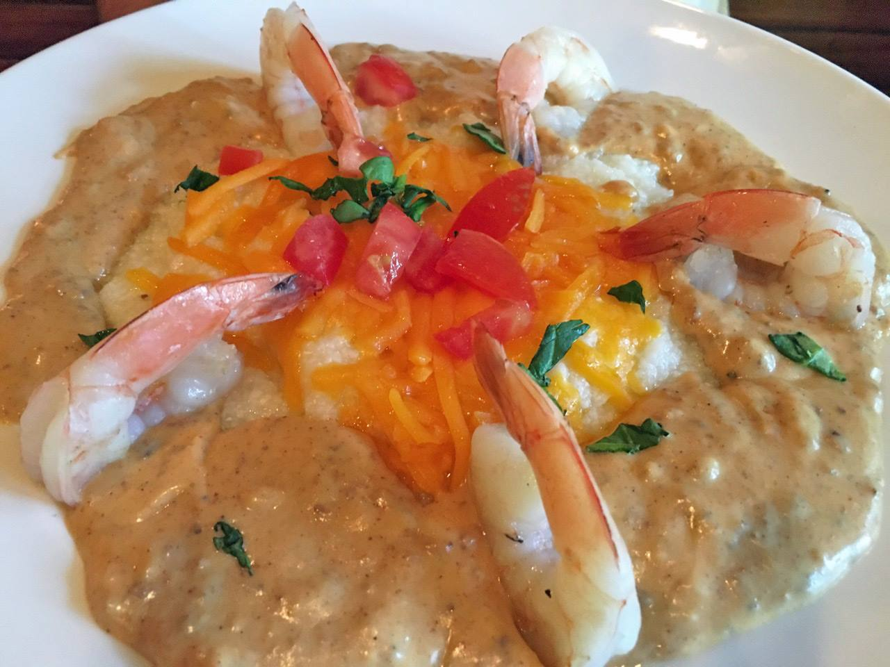 Shrimp & Grits at The Tap Room - Hollander Hotel