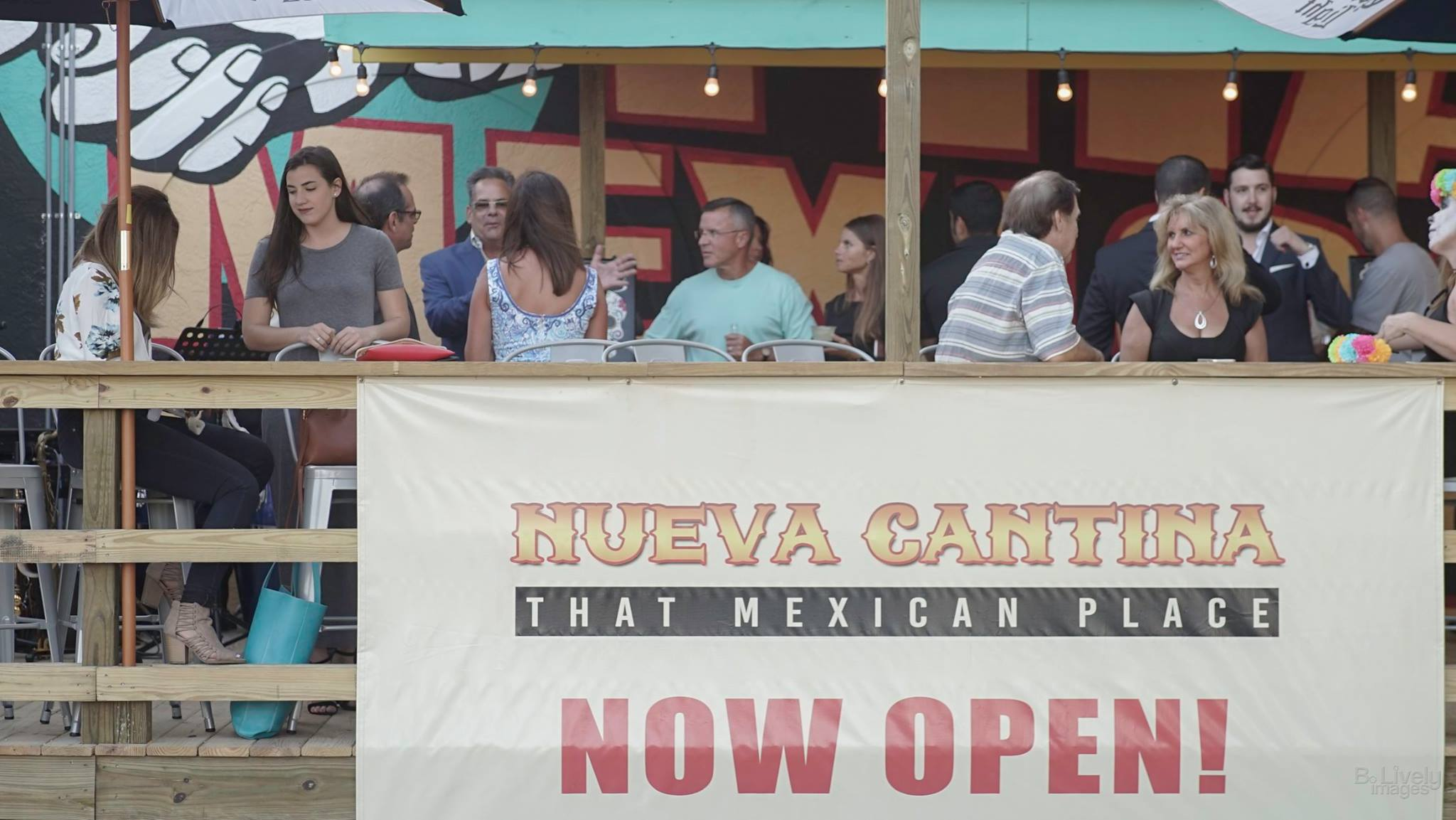 New Outdoor Deck & Bar at Nueva Cantina