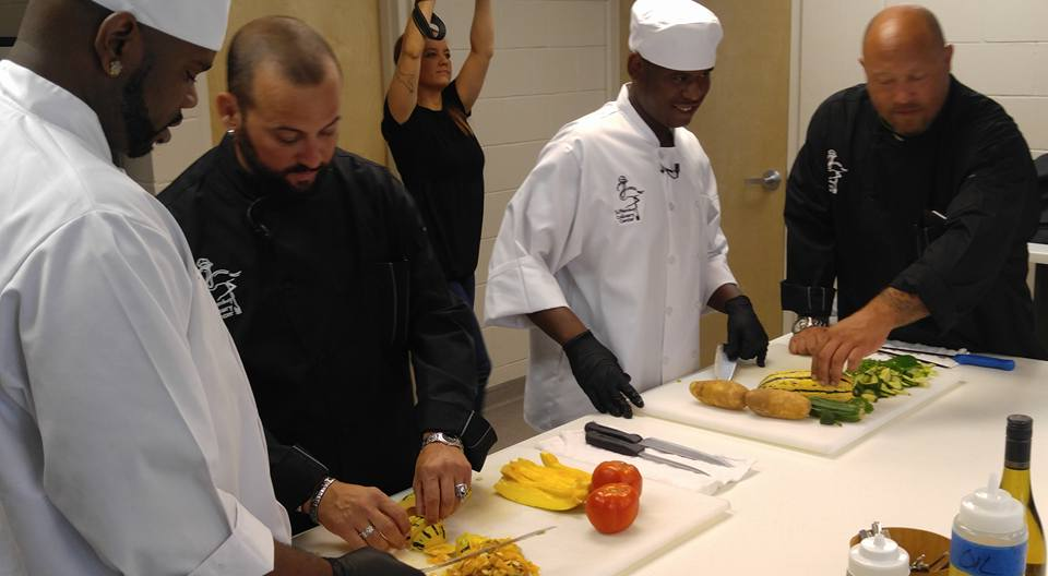 Chef Tony and Chef Jason Esposito sharing their knowledge.