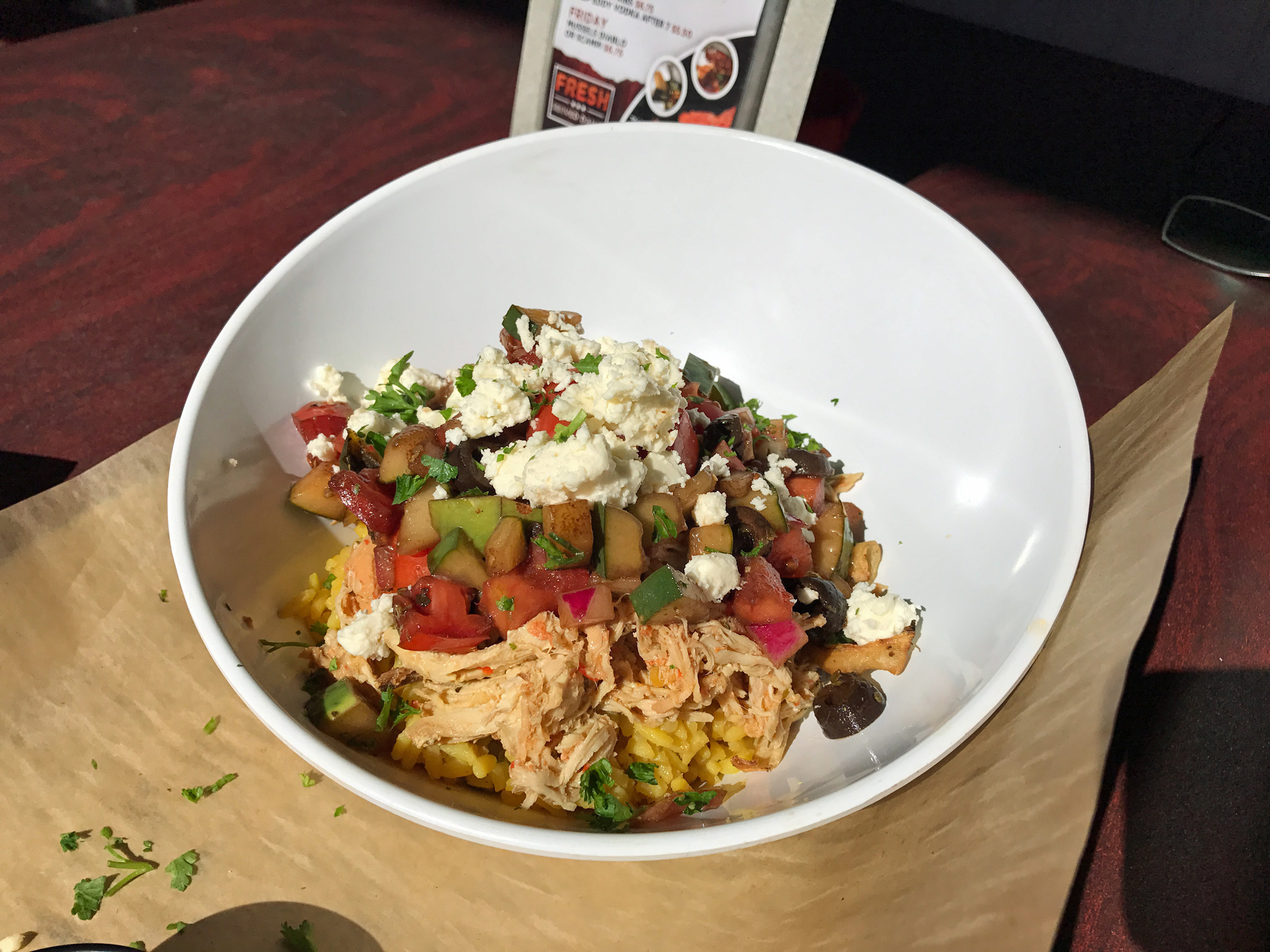 Del Mar Mediterranean Chicken Bowl