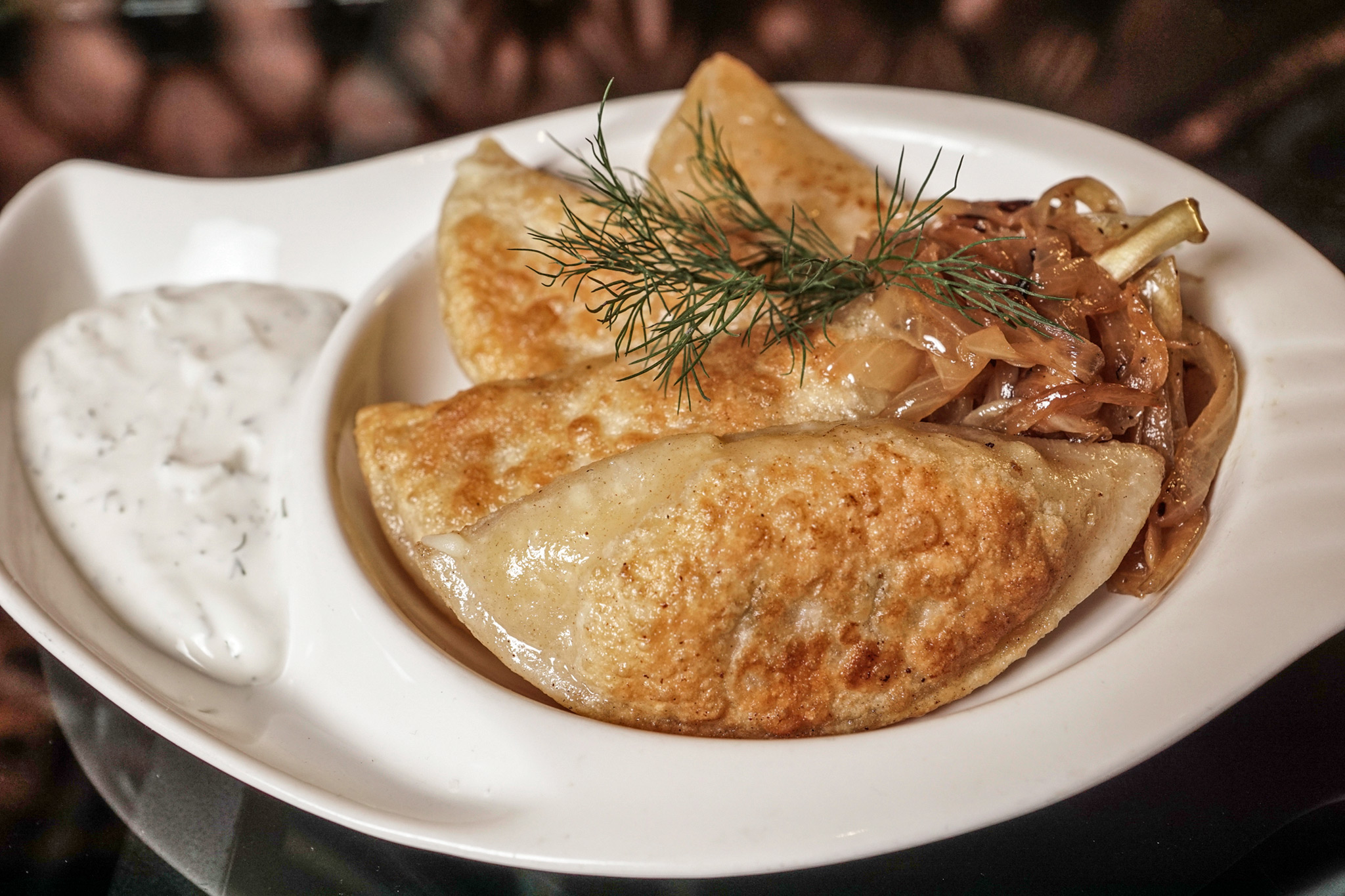 Tryst's House-made Potato Pierogies