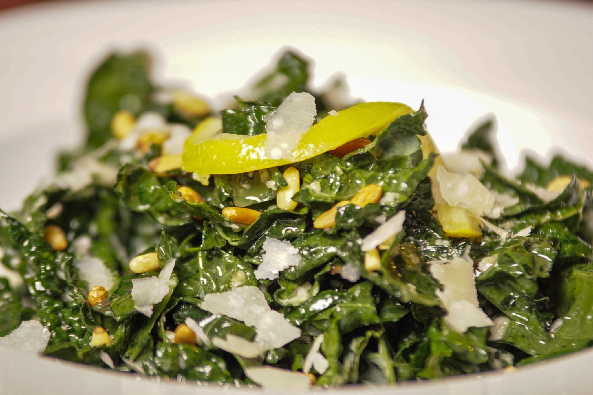Kale Salad - preserved lemon, parmesan, pine nuts