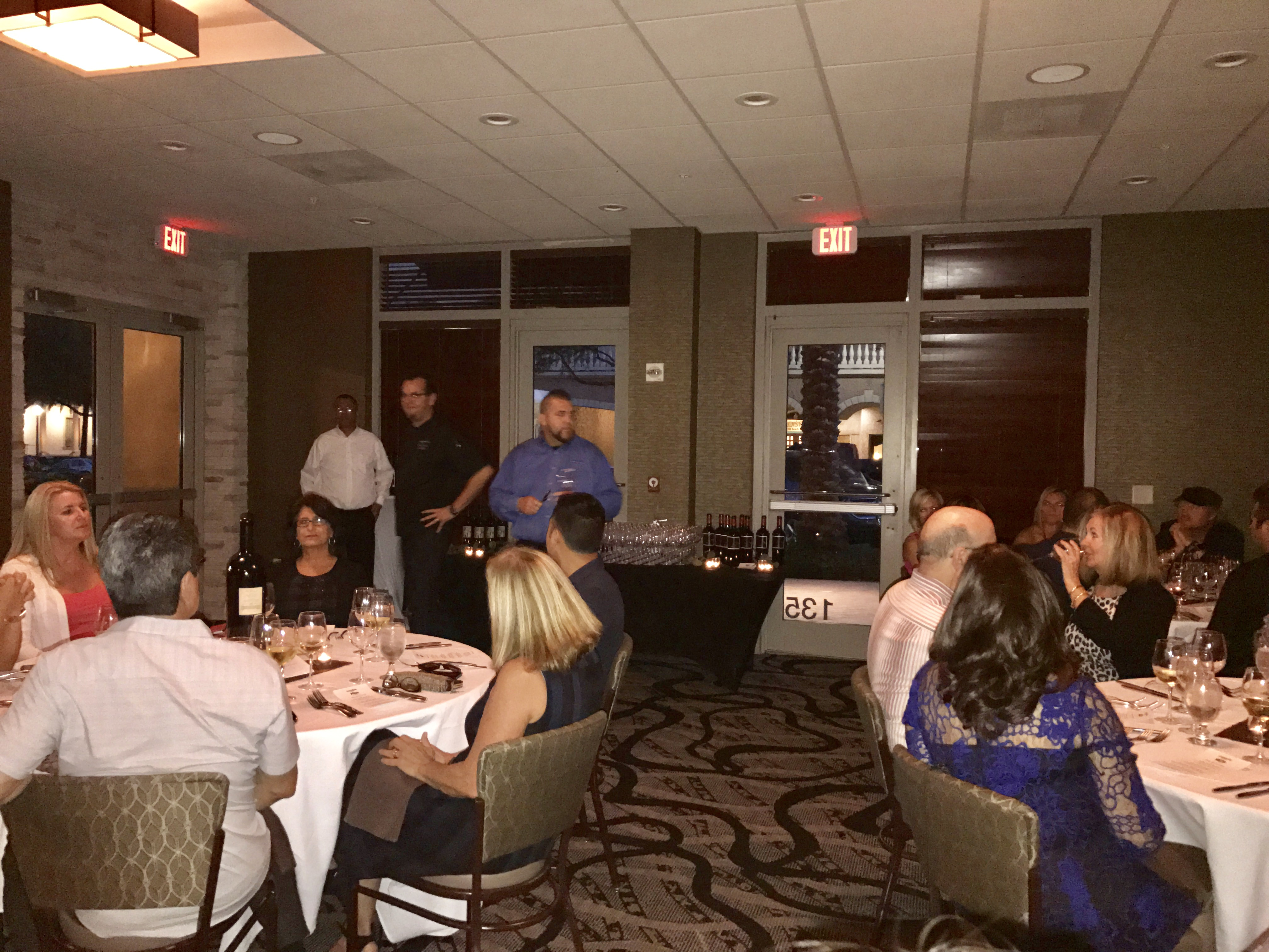 Guest at The Prisoner Wine Dinner at Parkshore Grill
