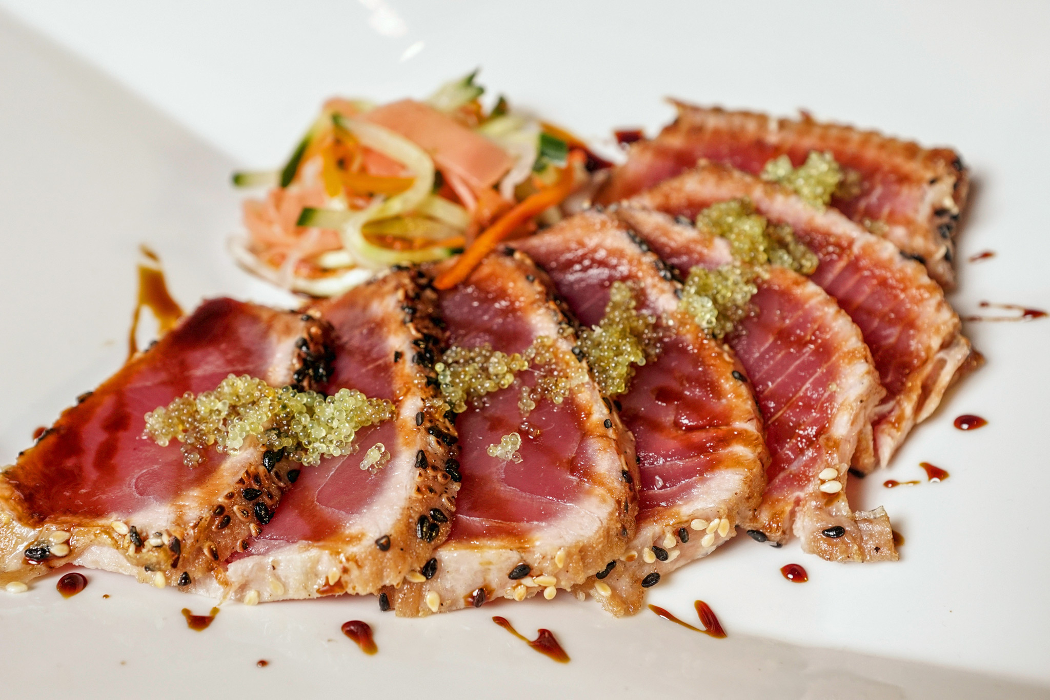 Tuna Tataki - pickled ginger slaw, sweet soy