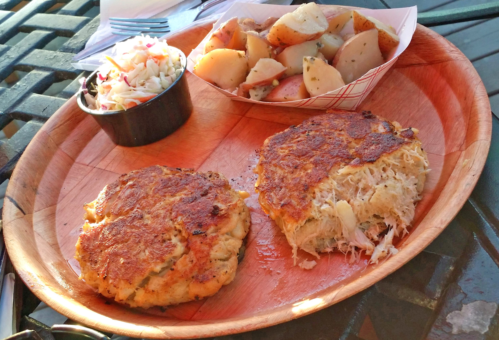 Crab Cakes at Captain Bill's
