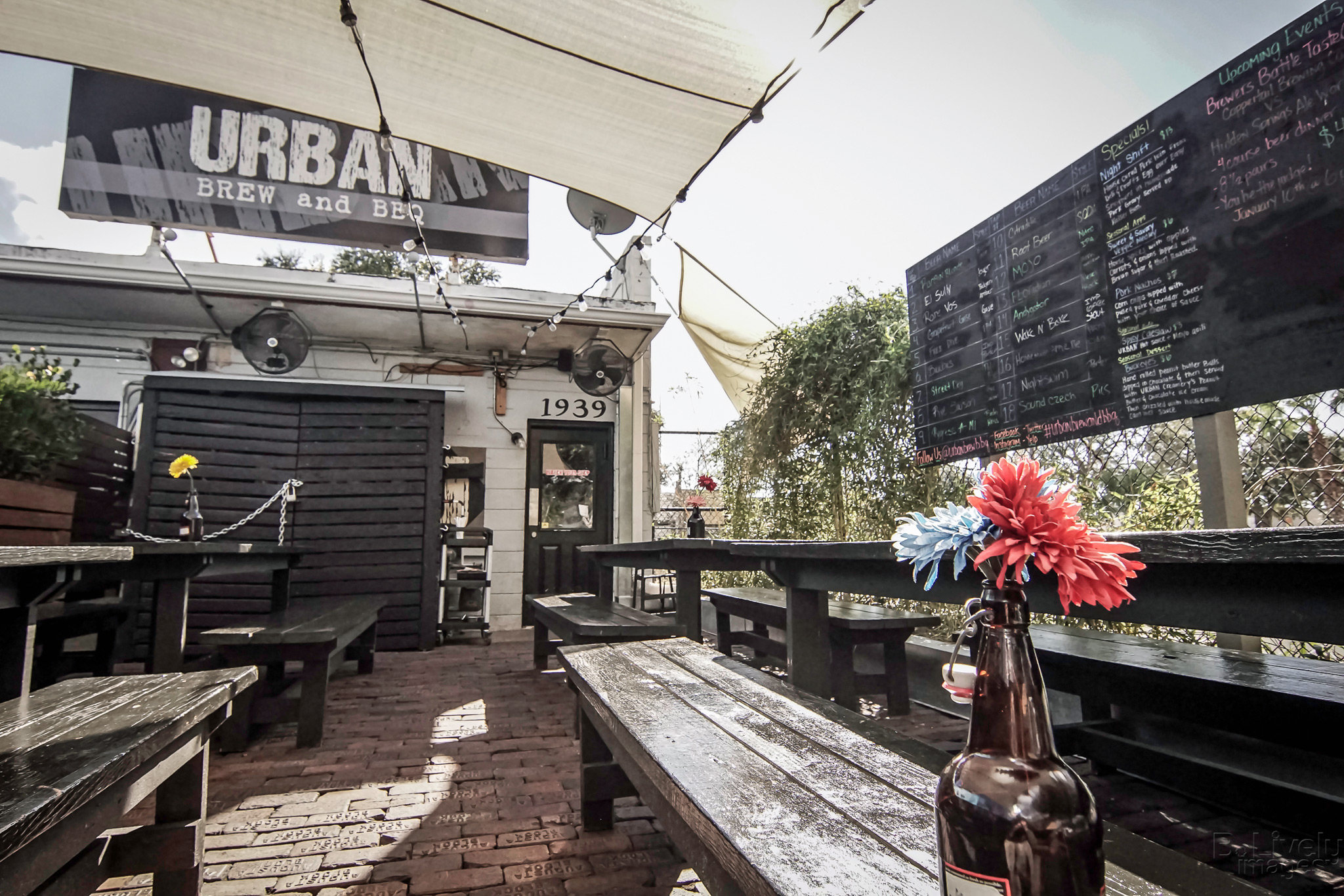 Urban Brew & BBQ Back Patio