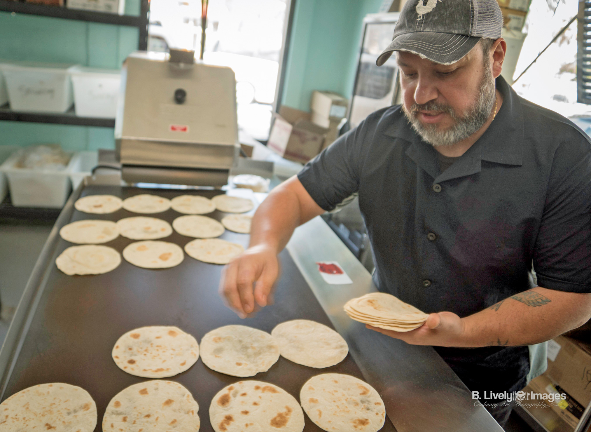 Chris Fernandez with Fresh Tortillas