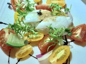 Birch & Vine Heirloom Tomato and Burrata Salad