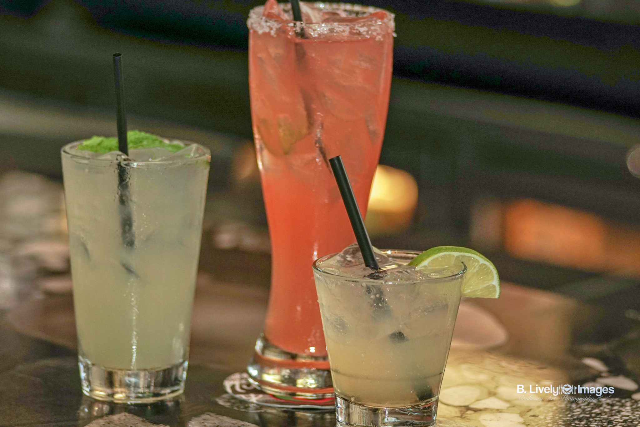 Coconut Ginger Mojito, El Bombero, & Downtown Cadillac Margarita