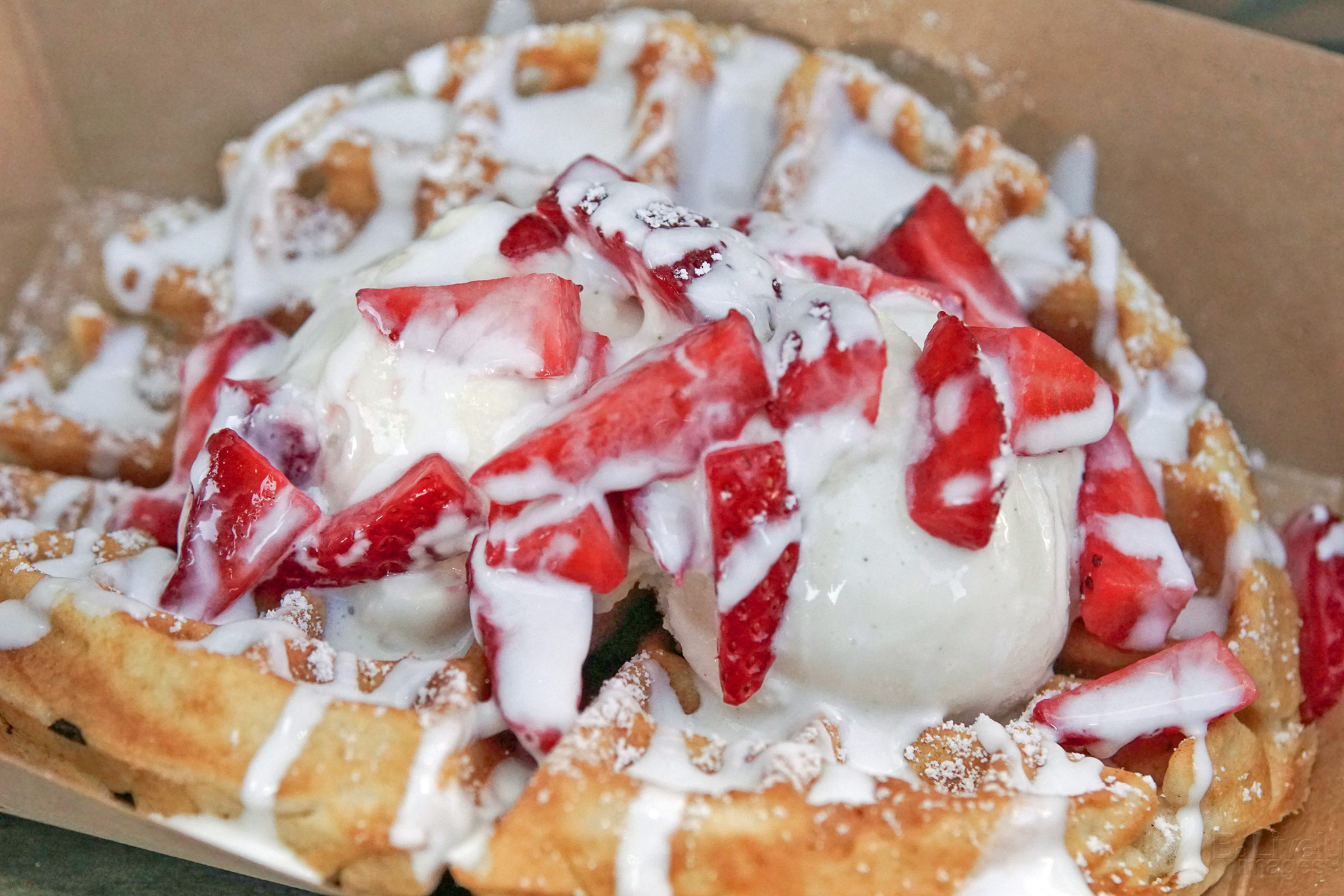 Urban Creamery Strawberries and Cream Dessert Waffle