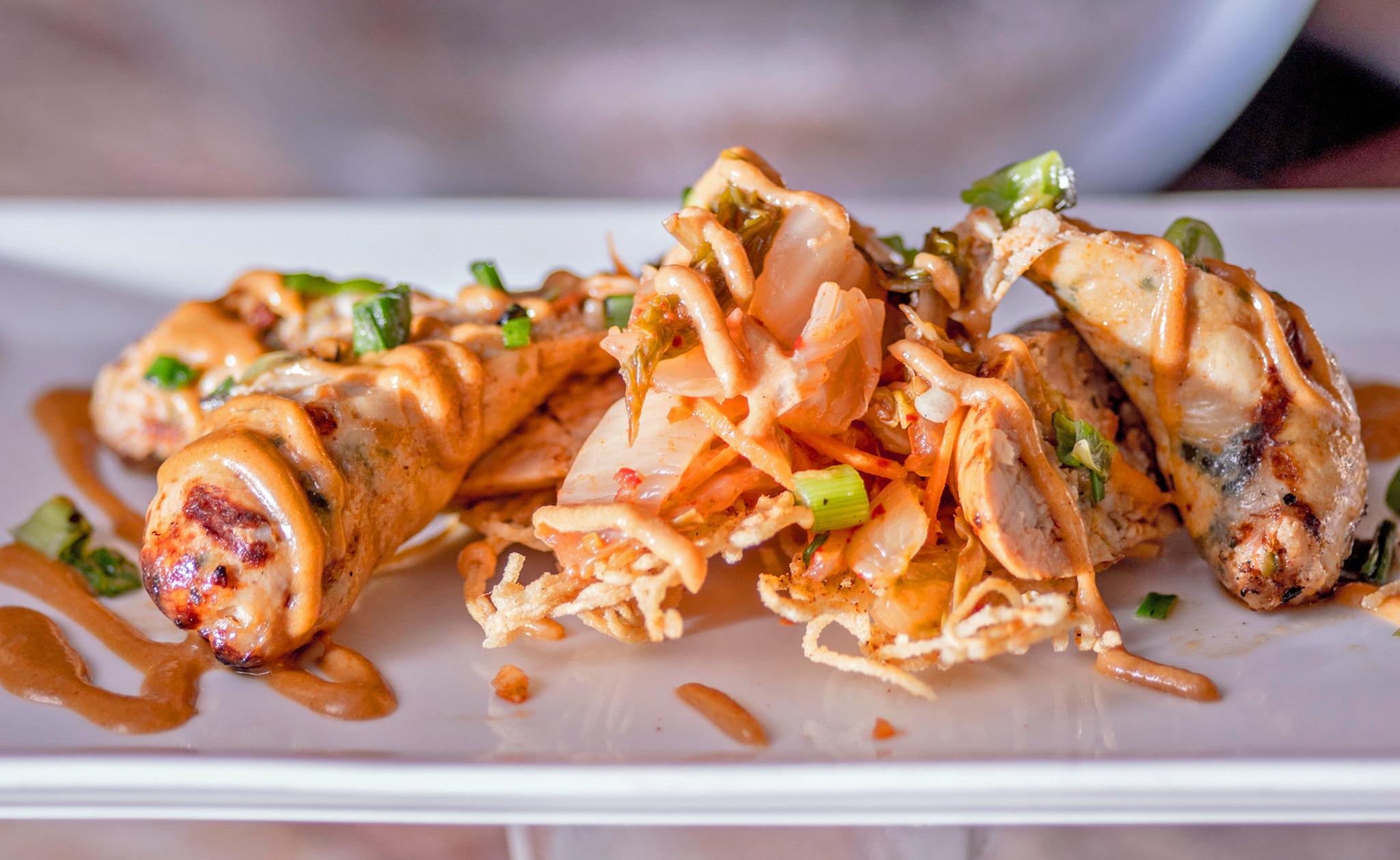 Chicken and Kimchi Sausage
