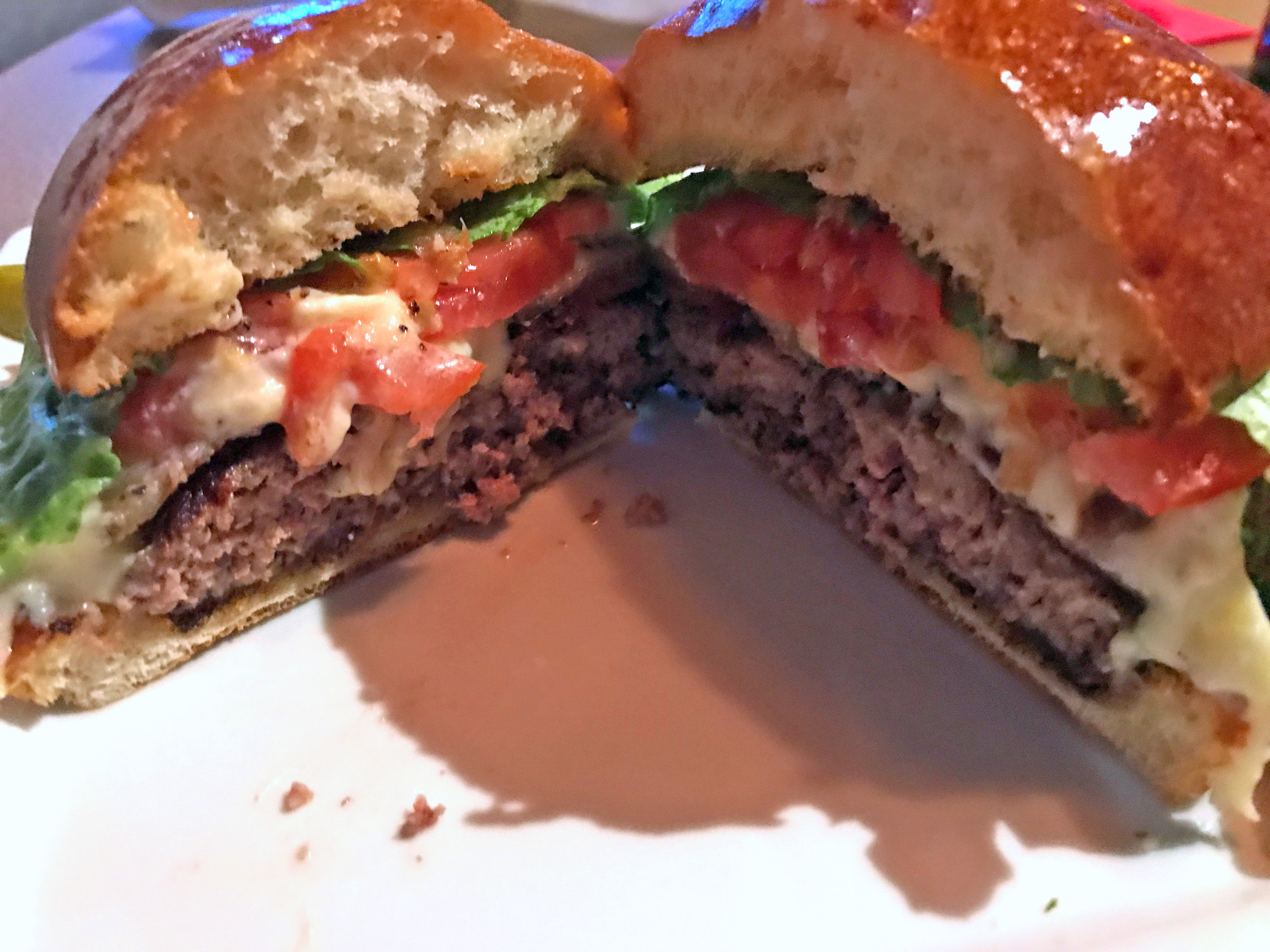 The Jimmy Burger, Assembled & Cut in Half