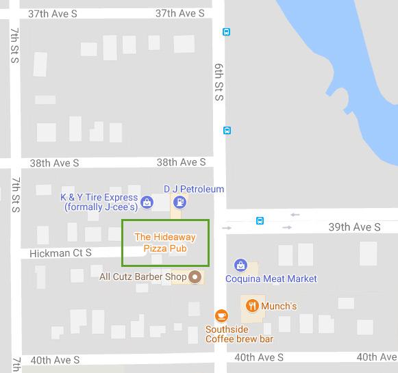Future Location of The Hideaway Pizza Pub