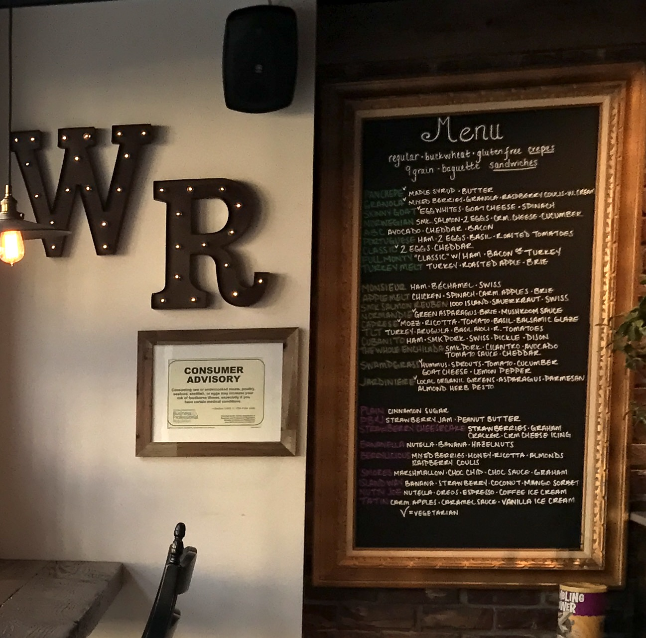 The Wooden Rooster Menu