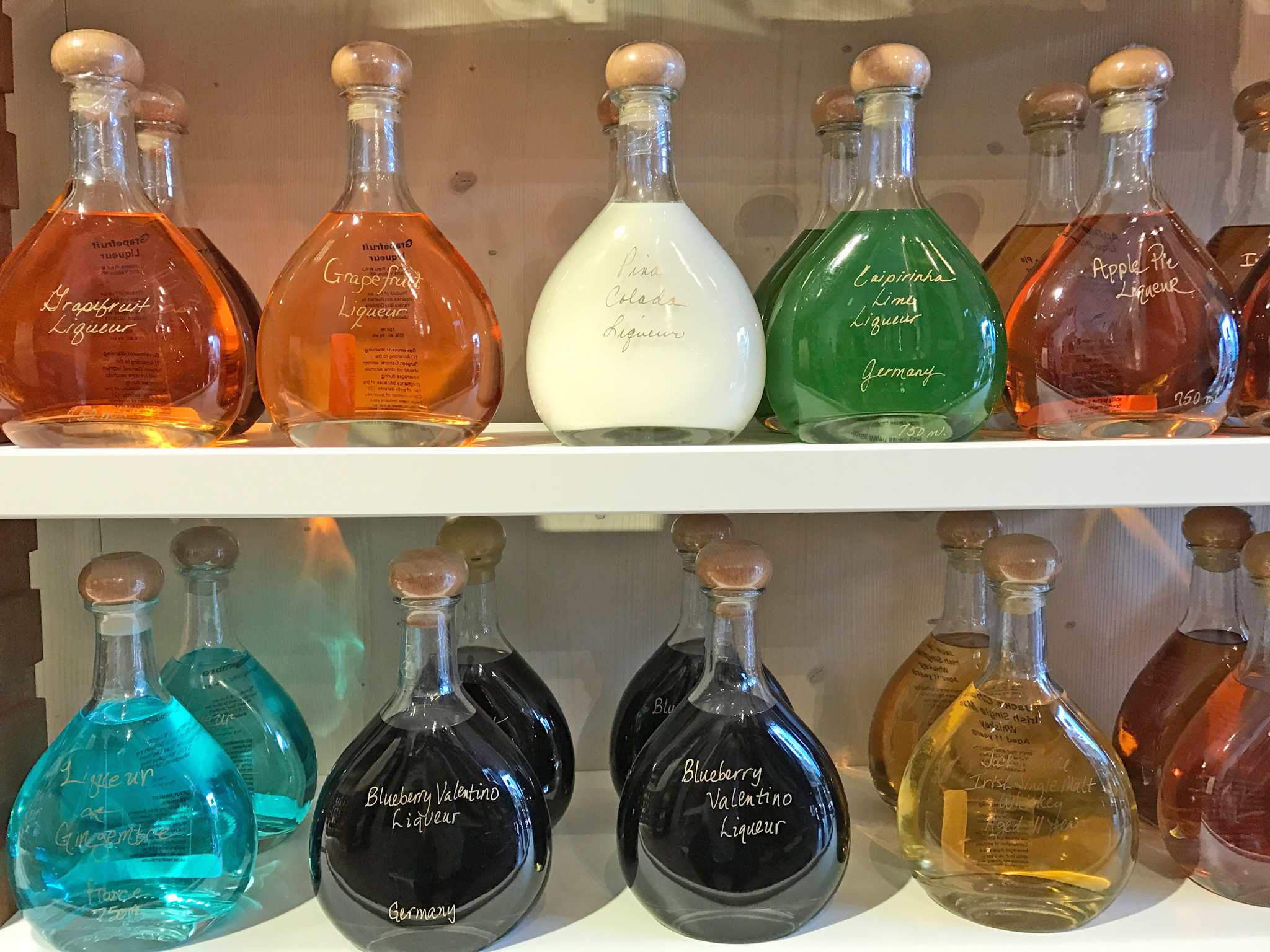 Various Liqueurs at Vom Fass