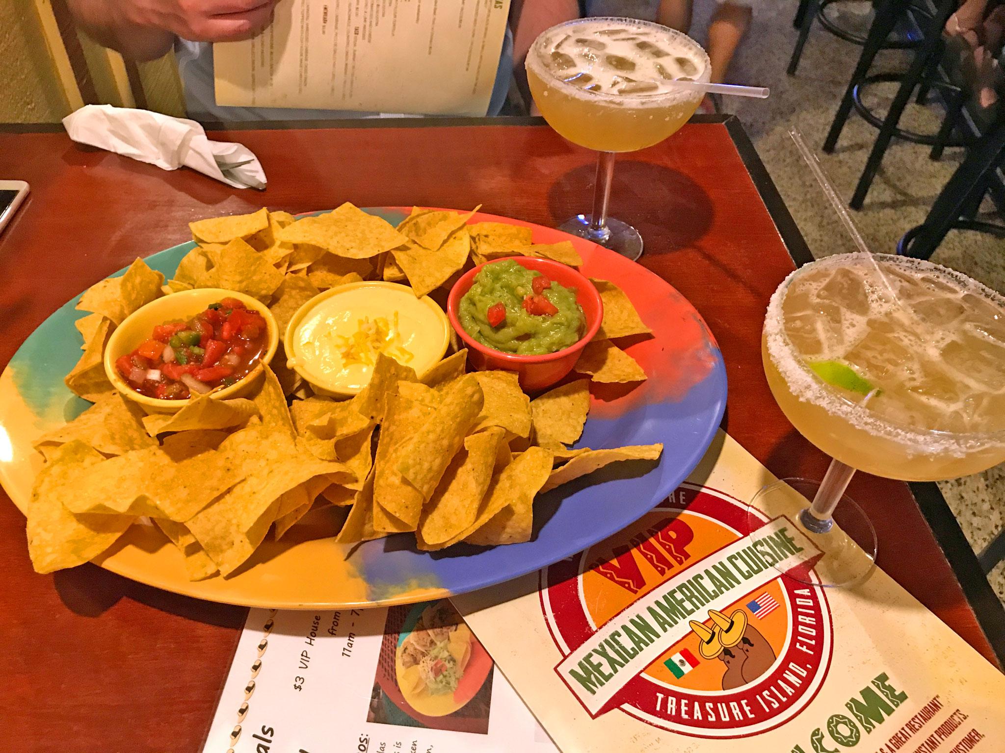 Three Amigos Appetizer & Millionaire Margaritas