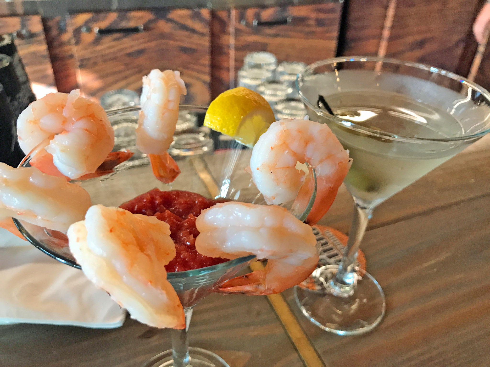 Deep-Six Shrimp Cocktail - Six Chilled Shrimp with Classic Cocktail Sauce & Horsey-Lemon Sour Cream