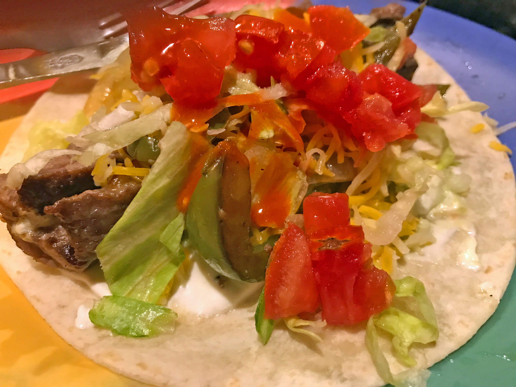 Fajita with toppings
