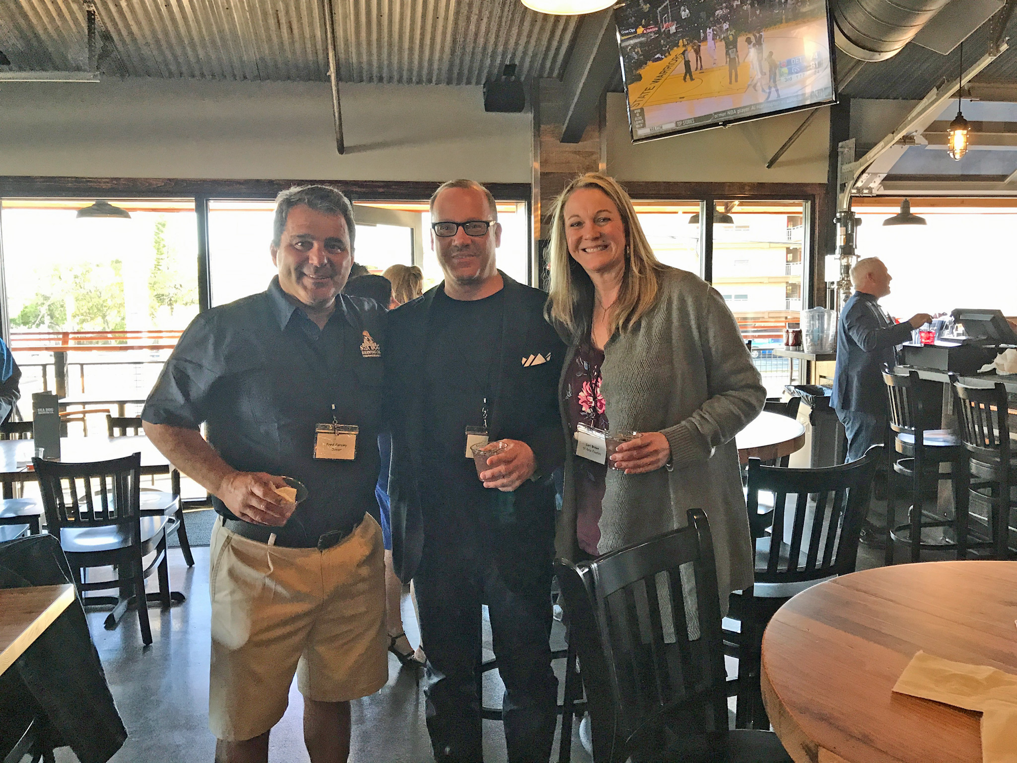 Fred Forsley (Sea Dog Founder & Owner), Kevin Godbee & Lori Brown of St. Pete Foodies