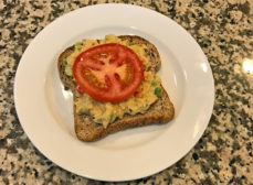 Tuna Salad on Ezekiel Bread with Tomato