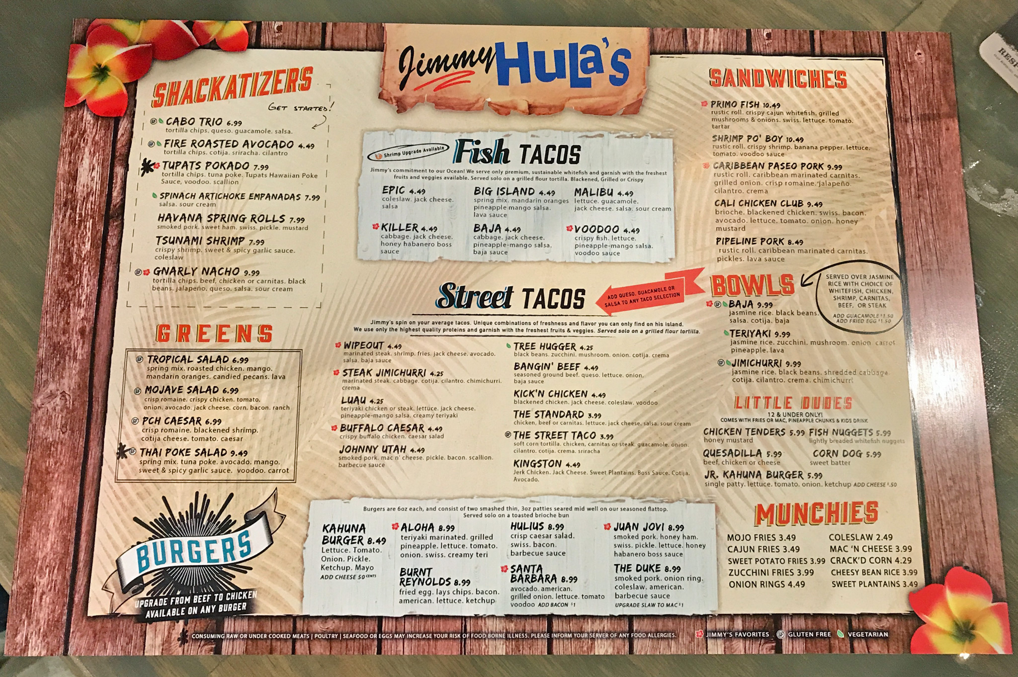 Surf Burgers >> Jimmy Hula's St. Pete Friends & Family Pre-Opening December 2017