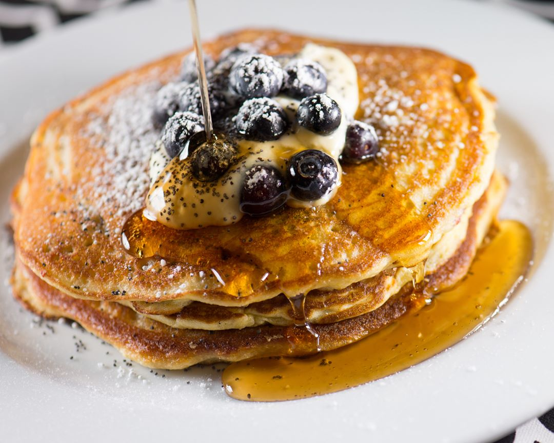 Cassis Blueberry Pancakes